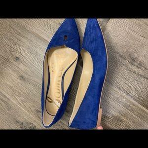 Blue Velvet Sam Edelman Flats